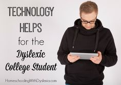 Technology Helps for the Dyslexic College Student As with study skills and self-advocacy skills, the use of compensatory technology should be mastered as much as possible before the first college assignment for a smoother transition. College Success, Education College, College Tips, Gifted Education, Special Education, High School Students, College Students, Dyslexia Strategies, Was Ist Pinterest