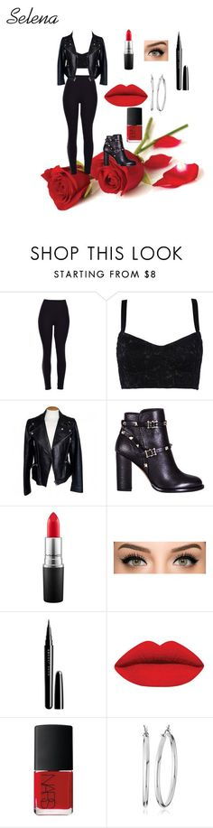 """""""Selena Quintanilla"""" by cvaxciii ❤ liked on Polyvore featuring Dolce&Gabbana, Alexander McQueen, Valentino, MAC Cosmetics, Marc Jacobs, NARS Cosmetics, Nine West, women's clothing, women's fashion and women"""