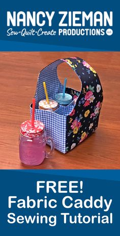 Fun Fabric Caddy Sewing Tutorial NEW! Watch Stitch it! Sisters Program Fun Fabric Caddy NEW! Watch the NEW! Stitch it! Sisters Program Fun Fabric Caddy Video with hosts Deanna Small Sewing Projects, Sewing Projects For Beginners, Sewing Hacks, Sewing Tutorials, Sewing Patterns, Sewing Tips, Dress Patterns, Sewing Blogs, Clothes Patterns