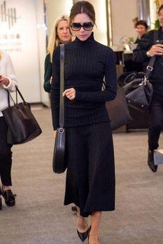 Victoria Beckham wearing Victoria Beckham Half Moon Bag