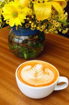 Latte art! At Tierra Mia Coffee in South LA.