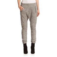 SET Harem Jogger Pants ($250) ❤ liked on Polyvore featuring pants, apparel & accessories, grey, stretch waist pants, pull on pants, elastic waist pants, jogging trousers and harem trousers