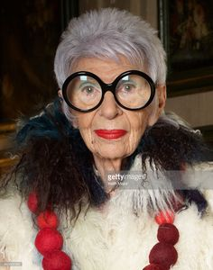 Older Women In Fashion .   Iris Apfel, who radiated at the age of 93