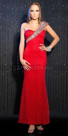 Csoda szép, álom, piros estélyi ruha, hosszú aljjal csipkés anyagból, vállán aszimmetrikus, flitteres díszítéssel, hátán fűzött. Estélyi ruhák online. Spandex, Formal Dresses, Red, Fashion, Dresses For Formal, Moda, Formal Gowns, Fashion Styles, Formal Dress