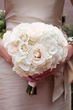 Pale pink rose/white hydrangea bouquet