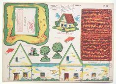 LAMINA RECORTABLE CONSTRUCCIONES YO. SERIE A Nº 12: CASA DE CAMPO CHALET. AÑOS 50 - Foto 1