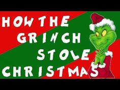 Dr. Seuss: How the Grinch Stole Christmas video: drawing the story as you listen to it, fabulous! - Idea for Holiday party?