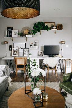 Designer we love: Nest Out West Boho Office Office Interior Design, Office Interiors, Home Interior, Office Designs, Guest Room Office, Home Office Space, Bedroom Office Combo, Guest Rooms, Home Office Inspiration