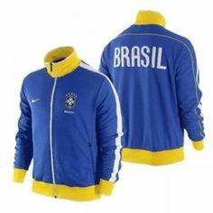 Nike Men's Brazil CBF Soccer Futbol Jacket Blue Size M 370285-493
