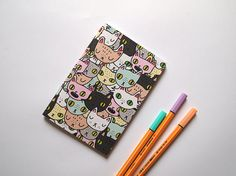 Small Cat notebook  Cat notebook  I like cats  A6 by ilikeCATSshop