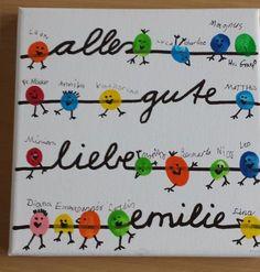 Klasse(n)Ideen: Abschiedsgeschenk presents for teachers Diy For Kids, Crafts For Kids, Kindergarten Portfolio, Diy And Crafts, Arts And Crafts, Fingerprint Art, Farewell Gifts, Presents For Kids, Diy Presents