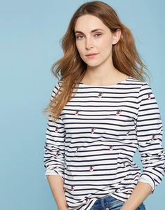 Joules Harbour Print Womens Jersey Top