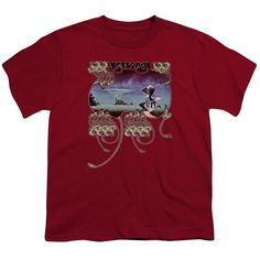 Yes/Yessongs Short Sleeve Youth 18/1 Cardinal