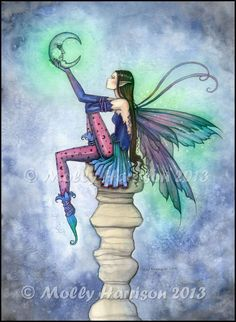 Fairy Art by Molly Harrison - Conversation with the Moon