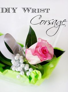Easy,budget friendly tutorial on how to create a DIY wrist corsage