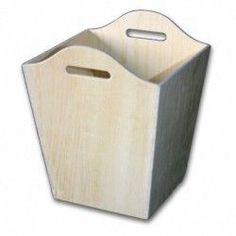 PAPELERA ASA DE CONTRACHAPADO PARA PINTAR DECORAR HABITACION INFANTIL NIÑA Container, Wings, Box, Coat Hooks, Wooden Crates, Wood Painting Techniques, Decoupage Paper