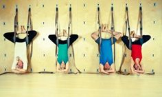 Yoga upside down - wall yoga, only available here! Wall Yoga, Gadgets, Sauces, Healthy, Fitness, City, Health, Gadget, Gravy