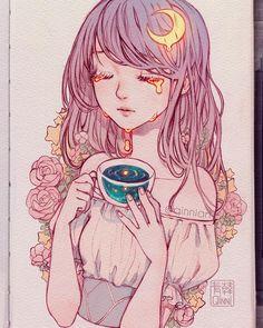 34 Ideas For Sad Beautiful Art Anime Girls Art And Illustration, Arte Do Kawaii, Kawaii Art, Manga Drawing, Manga Art, Drawing Art, Pretty Art, Cute Art, Dessin Old School