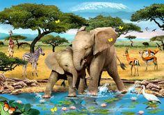 """Forever Friends"" - Wildlife by Howard Robinson 2012 http://www.howardrobinson.info/wildlife.html"