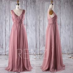 Hey, I found this really awesome Etsy listing at https://www.etsy.com/listing/491154293/2016-dusty-rose-chiffon-bridesmaid-dress