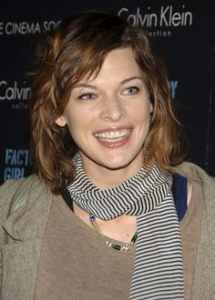 Modern Medium Curly Celebrity Hairstyles From Milla Jovovich ...