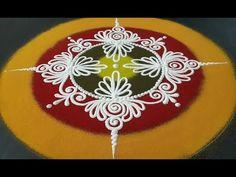 YouTube Rangoli Designs Simple Diwali, Rangoli Side Designs, Simple Rangoli Border Designs, Rangoli Designs Latest, Free Hand Rangoli Design, Rangoli Ideas, Colorful Rangoli Designs, Beautiful Rangoli Designs, Rangoli Colours