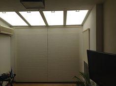 Proyecto Snob casa residencial.Objetivo tratamiento termoacustico ventanas de techo y balcon.Sistema utilizado Duette easyrise y Simplicity para techo. www.snobcortinas.com