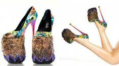 Zapatos hechos de estiércol de elefante, creación del artista INSA.