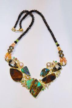 "Boulder opal necklace ""Mink Coat"". By jennifer kalled Opals from Bill Kasso"