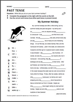 Printables Easy Grammar Worksheets past simple worksheet tense practice