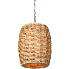 Water Hyacinth Stool Pendant Light design by Emissary Rattan Light Fixture, Pendant Light Fixtures, Pendant Lighting, Solar Powered Lights, Solar Lights, Costal Bedroom, Master Bedroom, Water Hyacinth, Burke Decor