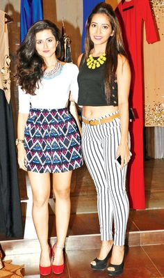 Riddhi Dogra and Asha Negi at the launch of a spring summer collection preview in SoBo.
