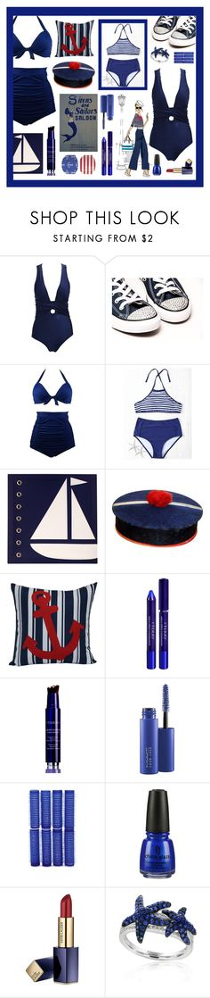 """In the Navy"" by beanpod ❤ liked on Polyvore featuring Sadie & Scout, SONOMA Goods for Life, By Terry, MAC Cosmetics, Forever 21, China Glaze, Estée Lauder and Effy Jewelry"