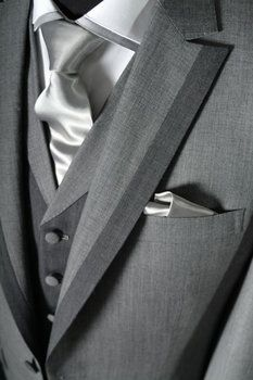 Wedding, Grey, Suit, Men - Grey Mens suit ... This is what I want for Christmas Santa!