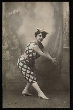 Actriz Carmen Calvo, tarjeta postal ca. 1910. ::: MEMORIA DE MADRID :::