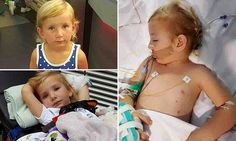 Family share photographs of their four-year-old daughter fighting meningitis | Daily Mail Online
