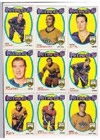 1971-72 TOPPS L.A. Kings NHL hockey cards VINTAGE LOT OF 9 free shipping!