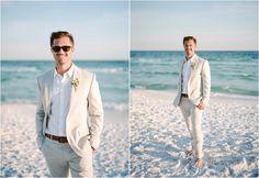 Arkins Wedding // Jade + Dan // Highlands House // Santa Rosa Beach, FL Beach Wedding Groom Attire, Beach Groom, Beach Wedding Photos, Beach Wedding Photography, Beach Weddings, Wedding Beach, Groom Beach Outfits, Outfit Beach, Destination Wedding Groomsmen