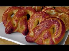 Homemade Soft Pretzels - Recipe by Laura Vitale - Laura in the Kitchen (goes along with Baked Pepper Jack Cheese Dip)