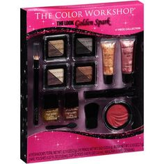 The Color Workshop The Look Golden Spark Makeup Collection (the 2 lip glosses are not included) $8