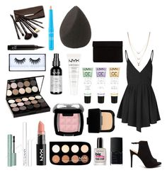 """""""HOCO #3"""" by daisywolfe on Polyvore featuring Glamorous, NYX, NARS Cosmetics, Sally Hansen, Borghese, Jessica Simpson and hoco"""