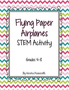 What a fun way to incorporate math and science!  Students first make a paper airplane (I googled step-by-step instructions and had all of my students create the same airplane).  Then students fly their airplane 8 times.  Next, they make some sort of modification to their plane (they may add weight to the nose, weight to the wings, change the shape of the wings, etc.).