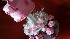 Torta en torre cupcakes