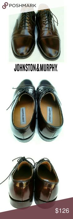 JOHNSTON & MURPHY OXFORD DRESS SHOE JOHNSTON & MURPHY BURGANDY CAP TOE OXFORD SHOES Pre-loved/EUC/Barely Worn *   #22-02985 *   Lace Ups *   See Sizing Printed in Shoe if Ur Familiar w/ J & M    Reads;            7 1/2 D/8 G14 Johnston & Murphy Shoes Oxfords & Derbys