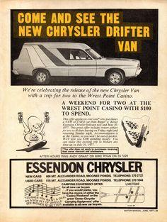 Chrysler Van, Vintage Cars, Antique Cars, Chrysler Valiant, Australian Muscle Cars, Car Advertising, Old Ads, Hot Cars, Mopar