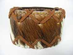 OOAK Pony Fur  Leather Wristband Cuff Bracelet by Vacationhouse, $34.00