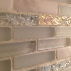 Home Products from Houzz....this is exactly the backsplash I want! a little glitz and glam with neutral tones to offset it looking too girly! Perfect for a bath, kitchen, or random awesomeness throughout the house!