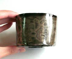 Silver mokume tea cup Yunomi Japanese tea bowl Japanese tea cup Chawan Matcha bowl All handmade Samurai Ninja Japanese culture Zen gift by MifuneJAPAN on Etsy