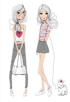 Fashion girls by Natalia Skripko