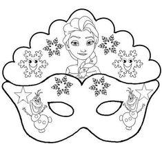 Elsa and Olaf: Free Printable Mask Template Elsa Frozen, Elsa Olaf, Preschool Crafts, Crafts For Kids, Karneval Diy, Carnival Crafts, Olaf Party, Printable Masks, Free Printable